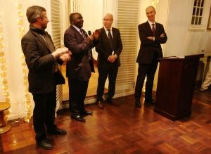 Prof. Maurice Amutabi addresses delegates at the French Ambassador's Residence, Nairobi